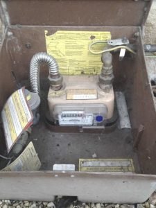 gas meter removal service